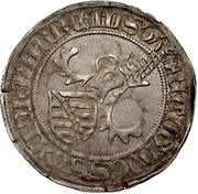 1 Horngroschen - Ernst, Wilhelm III, and Albrecht (Leipzig) – reverse