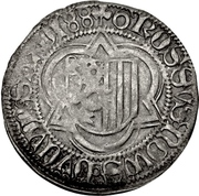 1 Halbschwertgroschen - Friedrich III, Johann, and Albrecht. (Schneeberg) – reverse