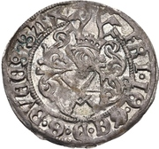 1 Zinsgroschen - Friedrich III, with Johann, and Georg (Freiberg) – obverse