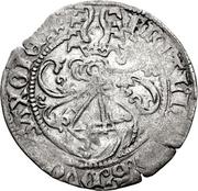 1 Zinsgroschen - Friedrich III, with Johann and Albrecht. (Leipzig) – obverse