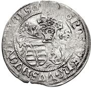 1 Zinsgroschen - Friedrich III, with Johann and Albrecht. (Leipzig) – reverse