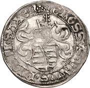 1 Zinsgroschen - Friedrich III, with Johann, and Georg (Freiberg) – reverse