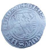 1 Spitzgroschen - Ernst, Albrecht and Wilhelm III – reverse