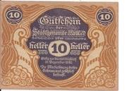 10 Heller (Melk) – obverse