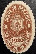 25 Pfennig (Bezirkssparkasse) – reverse