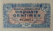 50 Centimes - Chambre de Commerce de Melun – obverse