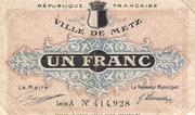 1 Franc - Ville de Metz [57] – obverse