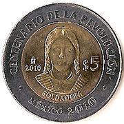 5 Pesos (Soldadera) -  reverse