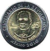 5 Pesos (Filomeno Mata) -  reverse