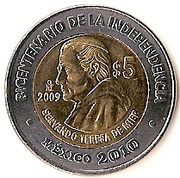 5 Pesos (Servando Teresa De Mier) -  reverse