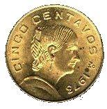 5 Centavos (small type) -  reverse