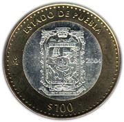 100 Pesos (Puebla) -  reverse