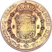 8 Escudos - Fernando VII -  reverse