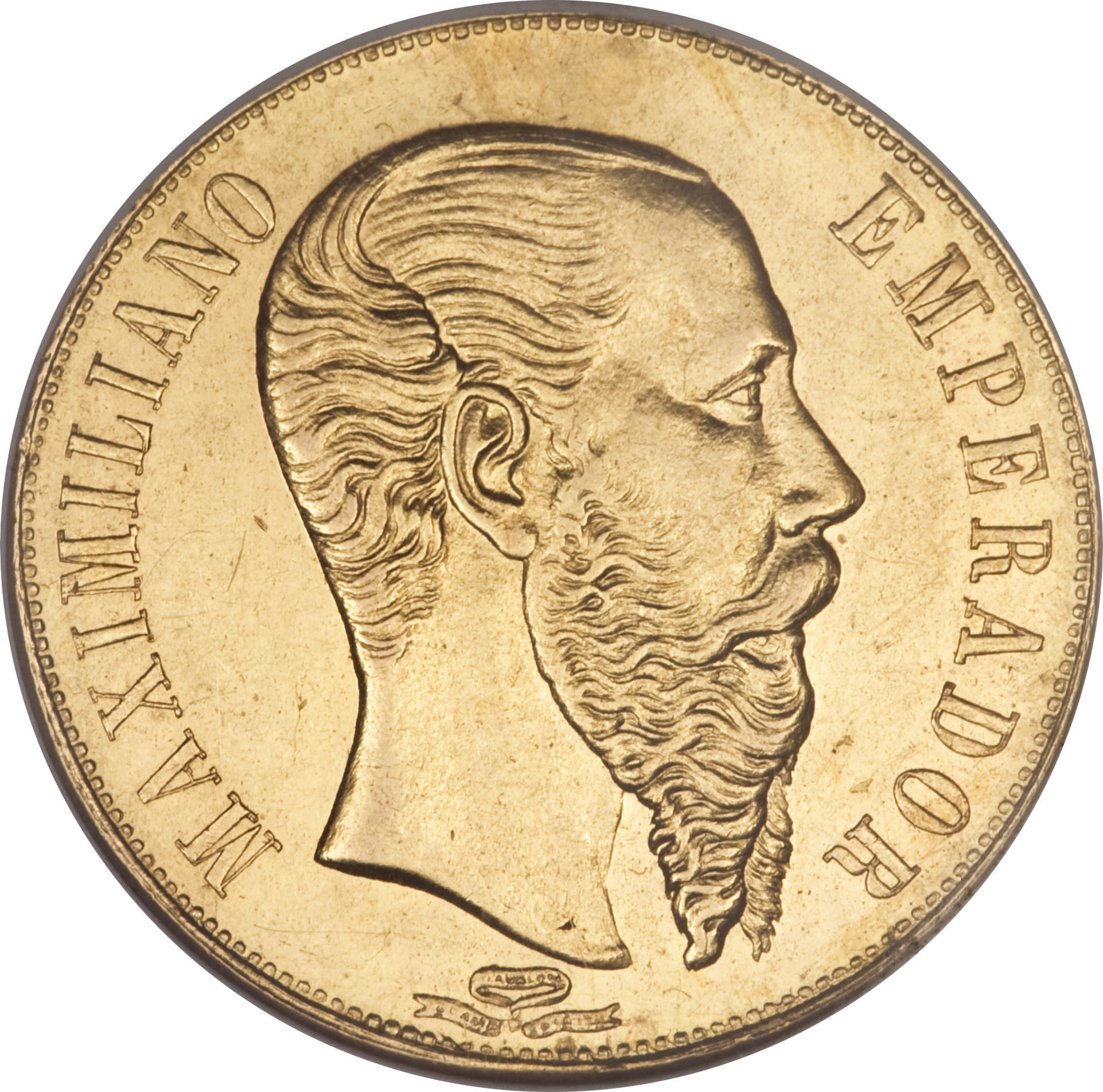 1865 Maximiliano Emperador Gold Coin http://en.numista.com/catalogue/pieces15009.html