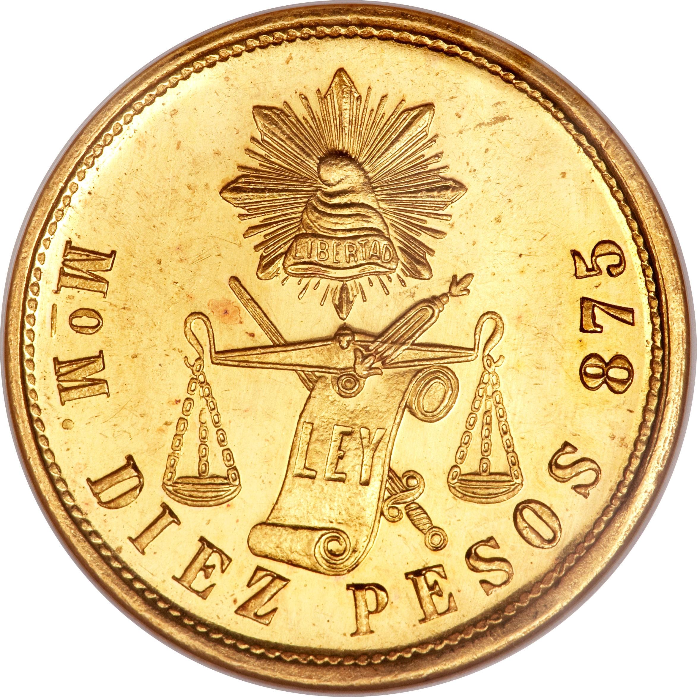 10 Pesos Mexico Numista
