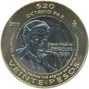 20 Pesos (Octavio Paz) -  reverse