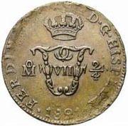 "¼ Real ""Señal"" - Fernando VII – obverse"