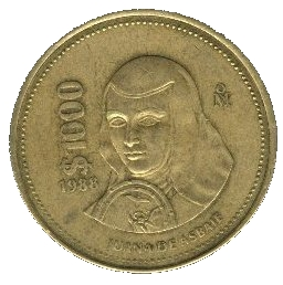 1988 1000 Mexican Coin http://en.numista.com/catalogue/pieces3138.html