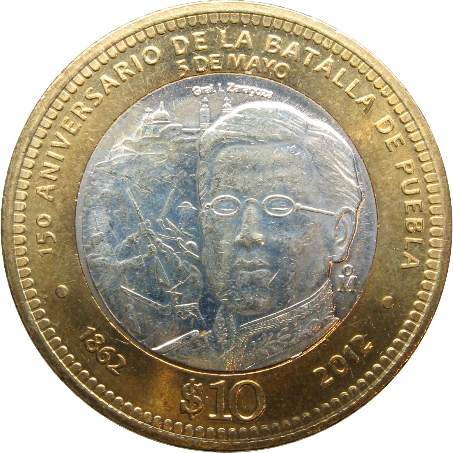 10 Pesos (Battle of Puebla) - Mexico - Numista