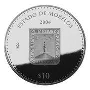 10 Pesos (Morelos - Silver Proof Issue) -  obverse