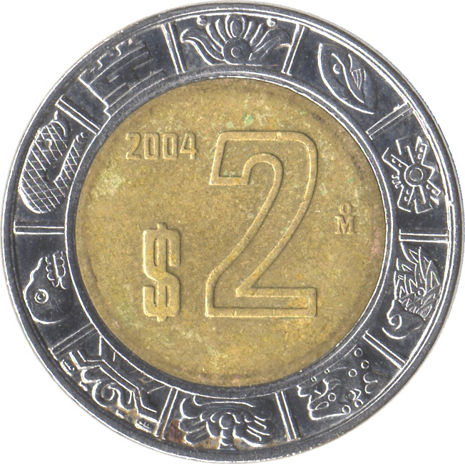 2 Pesos Mexico Numista