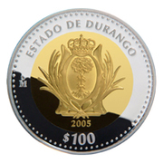 100 Pesos (Durango - Gold & Silver Proof Issue) -  reverse