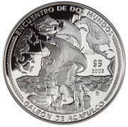 5 Pesos (Galeón de Acapulco) -  reverse