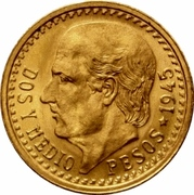 2½ Pesos -  reverse