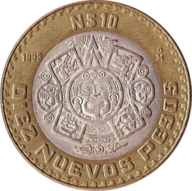 10 Nuevos Pesos - Mexico – Numista Pesos Symbol