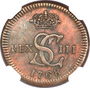 1/16 Real - Carlos III (Pattern, Copper) – obverse