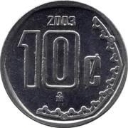 10 Centavos (large type) -  reverse