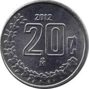 20 Centavos (small type) -  reverse