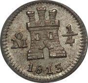 ¼ Real - Carlos IV / Fernando VII – obverse