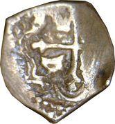 ½ Real - Carlos II – reverse