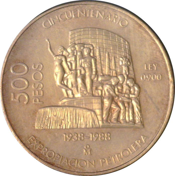500 Pesos 50th Anniversary Of Nationalization Oil Industry