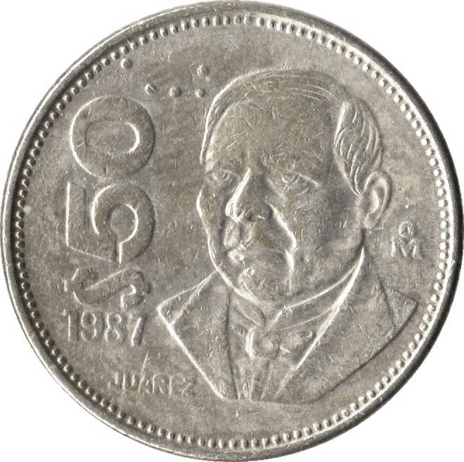 50 Pesos Mexico Numista