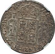 8 Reales - Fernando VII (Guadalajara - Royalist coinage) -  reverse