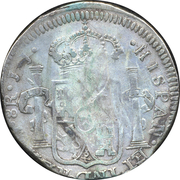8 Reales - Fernando VII (Guanajuato - Royalist Coinage) -  reverse