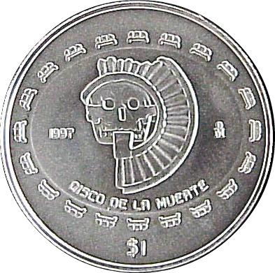 1 Peso / ¼ Onza (Disco de la muerte) - Mexico - Numista