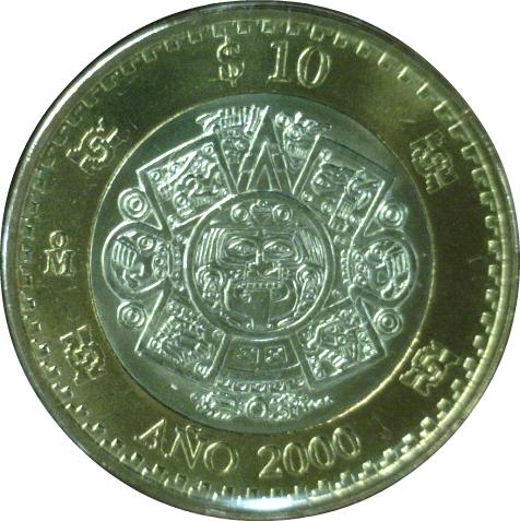 10 Pesos (Turn of the Millennium) - Mexico – Numista