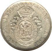 50 Centavos - Maximiliano I -  reverse