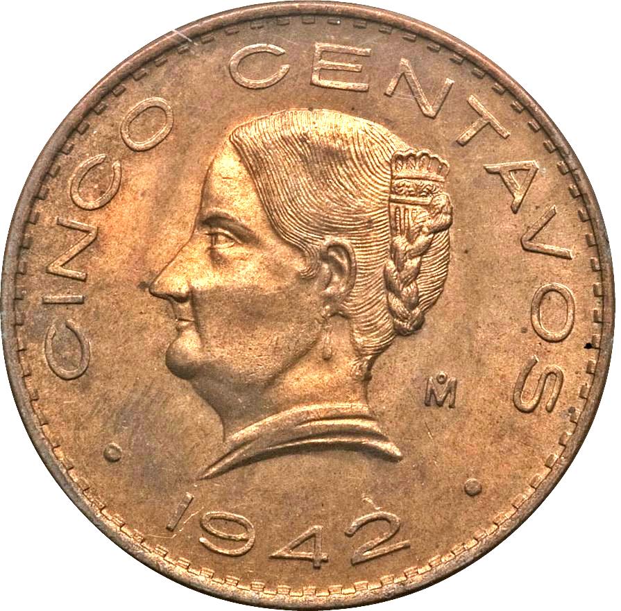 5 centavos mexican coin