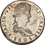 8 Reales - Fernando VII (Zacatecas - Royalist Coinage) -  obverse