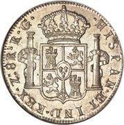 8 Reales - Fernando VII (Zacatecas - Royalist Coinage) -  reverse