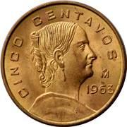 5 Centavos (large type) -  reverse