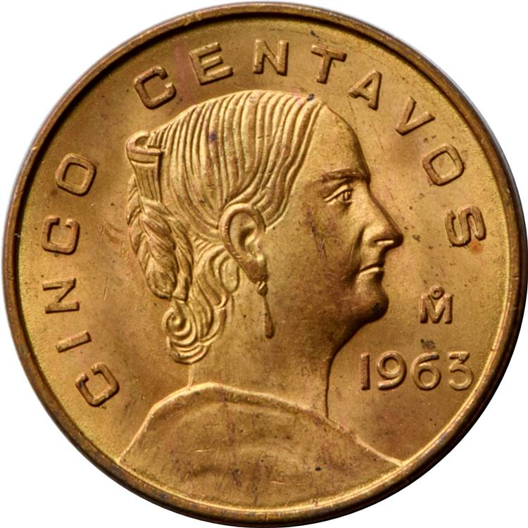 5 Centavos (large type) - Mexico – Numista