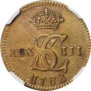 1/16 Real - Carlos III (Pattern, Brass) – obverse