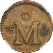 1/16 Real - Carlos III (Pattern, Brass) – reverse