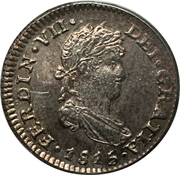 ½ Real - Fernando VII – obverse