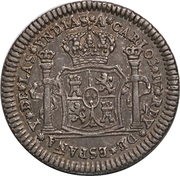 ½ Real - Carlos IV (Proclamation Coinage) – obverse